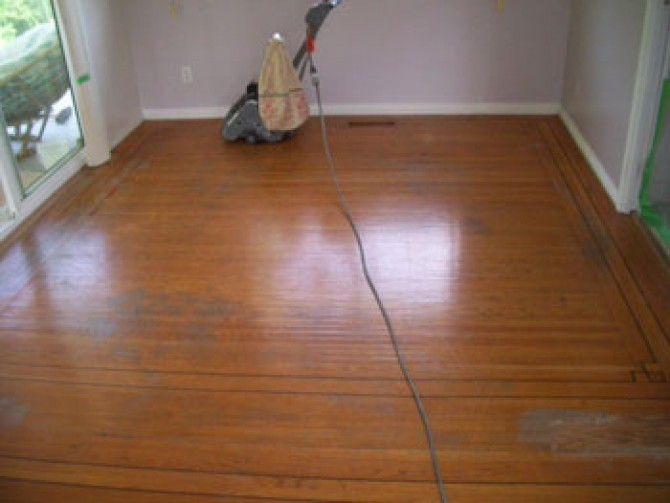 Hardwood Floor Refinishing – Before