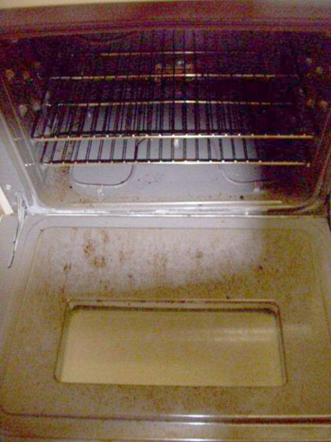 Residential Cleaning-Oven-Before
